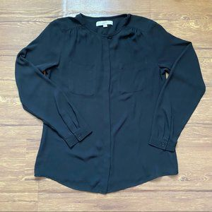 Loft Top Two Pocket Long Sleeve Size Small